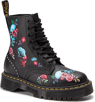 a9858a5444df03 Dr. Martens Chaussures Rangers DR. MARTENS - 1460 Pascal Bex Rose 24424001  Black/