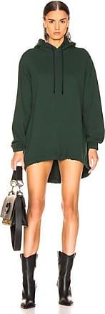 Cotton Citizen Milan Hoodie Dress in Green