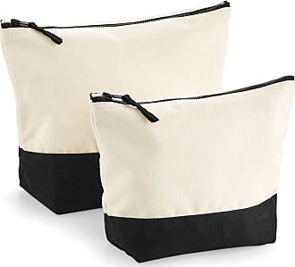 Westford Mill Dipped Base Canvas Accessory Bag (L) (Natural/Black)
