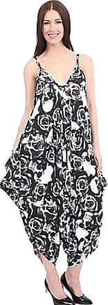 Momo & Ayat Fashions Ladies Cami Strappy Baggy Harem Lagenlook Jumpsuit UK Size 8-18 (3XL (UK 24-26), Skull & Roses Print)
