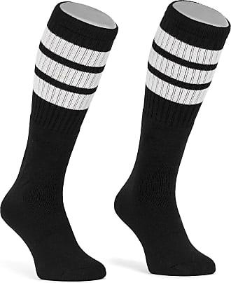 Skatersocks 25 Inch Striped Tube Socks in Retro Style White//Black Stripes