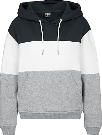 cf6b2397656b Urban Classics Ladies Oversize 3-Tone Hoody - Sweat à Capuche Femme - Sweat-