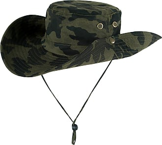 Yonglan Women Men Camouflage Bucket Hat Jungle Military Bush Hat Unisex Wide Brim Sun-Shading Fishing Hats ArmyGreenMC One Size