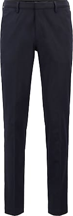 BOSS Slim-fit chinos in Italian four-way-stretch cotton