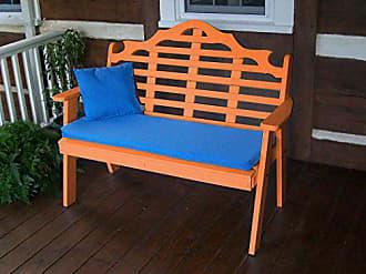 A & L Furniture A & L Furniture 858-O Orange Poly Marlboro Garden Bench, Orange
