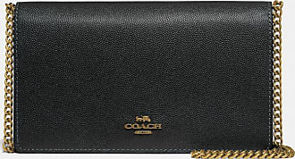 Coach Callie Foldover Chain Clutch in Black