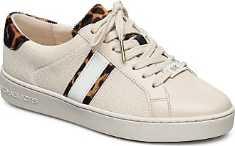Michael Kors Irving Stripe Lace Up Låga Sneakers Beige Michael Kors Shoes