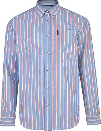 Ben Sherman Oxford Stripe Long Sleeve Shirt - Indigo