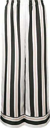 Gold Hawk Calça pantalona listrada - Preto