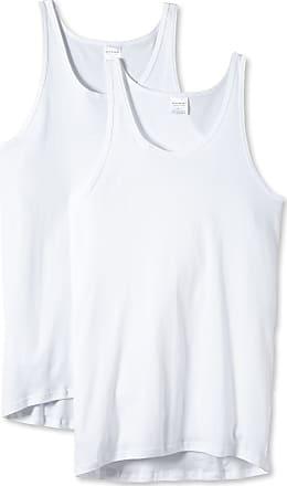 Schiesser Mens Feinripp 5121 Undershirt, White (100), XXL