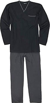 ADAMO Herren Schlafanzug Pyjama Hose SCHWARZ LANG 2XL bis 10XL Jakob