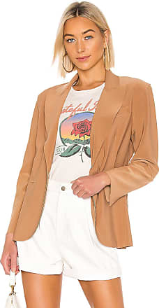 Norma Kamali Single Breasted Blazer in Tan