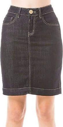 Eventual Saia Jeans Feminina Eventual Mid Rise Middle Plus
