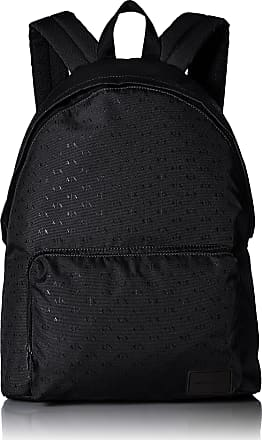A|X Armani Exchange Mens Logo Silver Backpack, Black