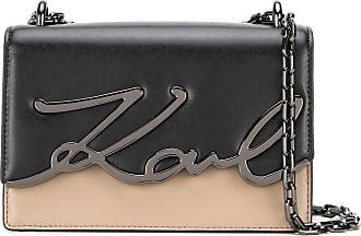 Karl Lagerfeld Bolsa tiracolo K/Signature pequena - Preto