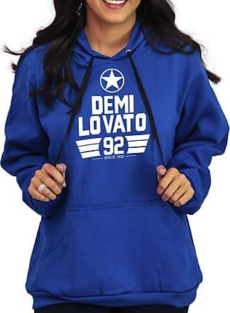 Atelier do Silk Agasalho Moletom Flanelado Capuz Unissex Banda Demi Lovato Cor:Azul;Tamanho:GG