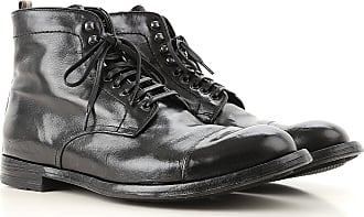 Officine Creative Boots for Men, Booties On Sale, Black, Leather, 2017, 11.5