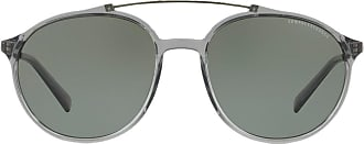 A|X Armani Exchange Óculos de sol arredondado - Cinza