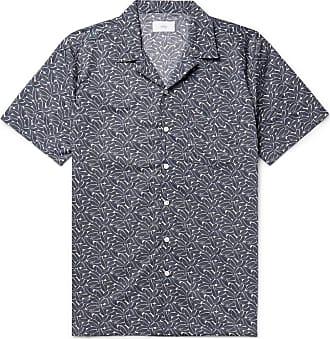 Onia + Liberty London Vacation Camp-collar Printed Cotton-poplin Shirt - Navy