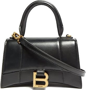 Balenciaga Hourglass Xs Leather Shoulder Bag - Womens - Black
