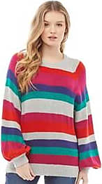 Brave Soul crew neck knit jumper with balloon sleeves