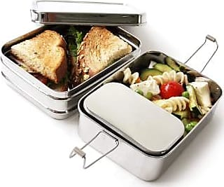 ECOlunchbox Stainless Steel Three in One Classic Lunchbox - stainless steel