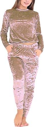 Parsa Fashions Malaika New Women Crushed Velour Velvet Jogger Lounge Wear 2 Piece Co-Ordinate Tracksuit Sweatshirt Bottom - Available in Plus Sizes UK 8-18 (UK 12-14