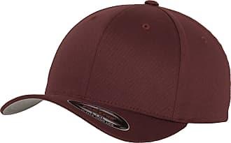 Yupoong Mens Flexfit Fitted Baseball Cap (LXL) (Maroon)