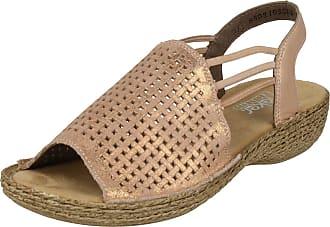 Rieker Ladies Casual Sandals 65845-31 - Rosa Leather - UK Size 4 - EU Size 37 - US Size 6