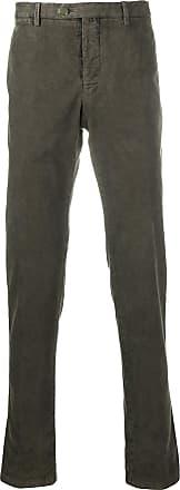 Kiton slim fit trousers - Green