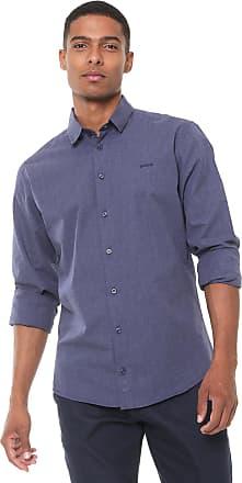 Colcci Camisa Colcci Slim Lisa Azul