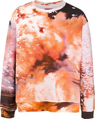 424 Pullover mit abstraktem Print - Orange