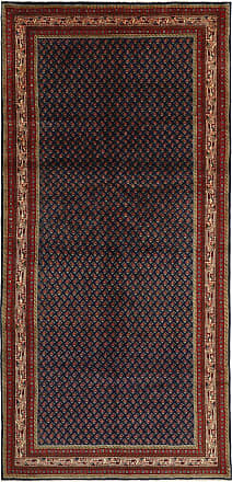 Nain Trading 285x131 Persian Sarouk Mir Boteh Rug Runner Dark Grey/Brown (Hand-Knotted, Iran/Persia, Wool)