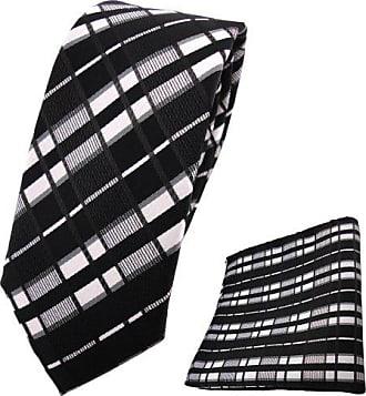TigerTie Krawatte Einstecktuch in grau anthrazit grausilber geblümt gemustert