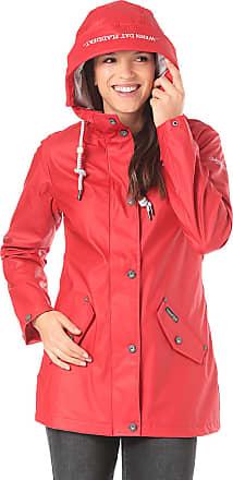 Schmuddelwedda Wasserdichter Anorak - Funktionsjacke für Damen - Rot b55dbdd887