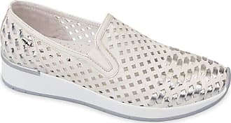 Valleverde 18101 Womens Lace-Free Loafers Leather Shoes White Size: 8.5 UK