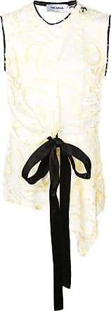 Yigal AzrouËl daffodil feather fil coupe top - White