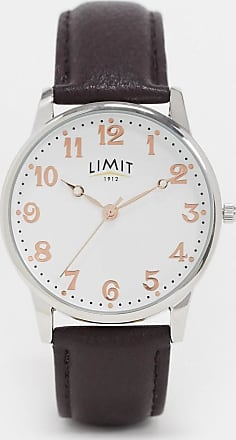 Limit faux leather watch in brown