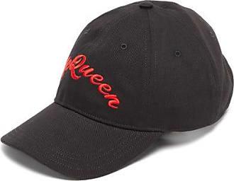 Alexander McQueen Alexander Mcqueen - Embroidered-logo Cotton Baseball Cap - Mens - Black