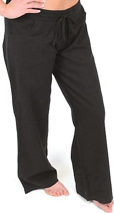 Tom Franks Ladies Black Linen Blend Full Length Trousers Size 18