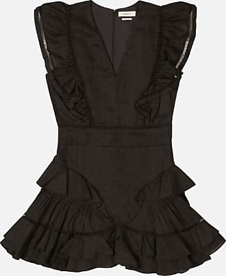 Isabel Marant Ruffled v neck mini dress