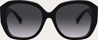 Valentino Valentino Occhiali Occhiale Da Sole Squadrato In Acetato Vlogo Signature Donna Nero/nero Sfumato Acetato 100% OneSize