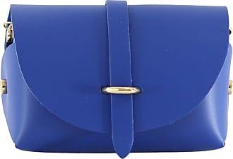 Chicca Borse Womens Shoulder Bag, Blue (Blu), 18 cm (18 cm)