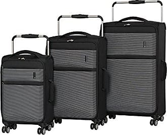 IT Luggage IT Luggage Worlds Lightest Debonair 3 Piece Set 8 Wheel Spinner, Black/White