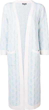 N.Peal longline cardi-coat - White