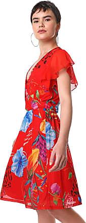 Desigual Vestido Desigual Curto Miranda Vermelho