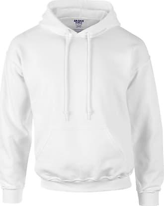 Gildan Gildan Heavyweight DryBlend Adult Unisex Hooded Sweatshirt Top / Hoodie (13 Colours) (XL) (White)