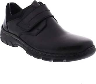 Rieker Tact Mens Casual Leather Riptape Shoes 6.5/40 Black