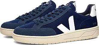 Veja V-12 Mesh Sneaker Navy & Weiß - leather   cloud white   44