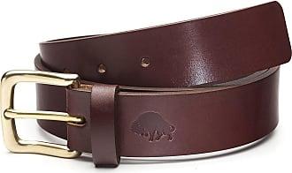 Ezra Arthur No. 1 Belt | Burgundy/Brass Buckle | 30